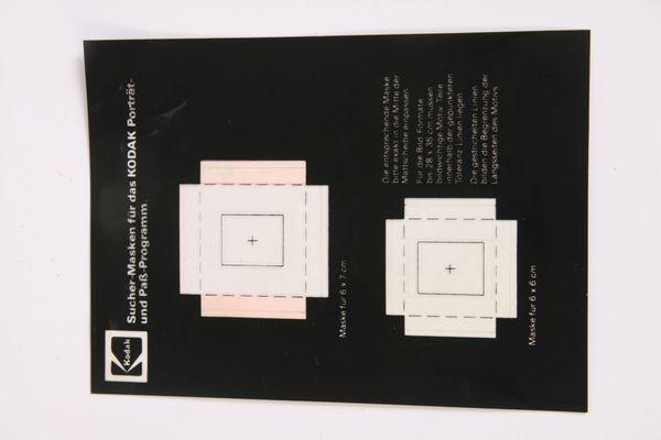 Suchermaske-Formatmaske Kodak Portrait und Paßprogramm-Viewfinder