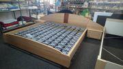 Doppelbett Bett Nachttische Tellerrost Ehebett