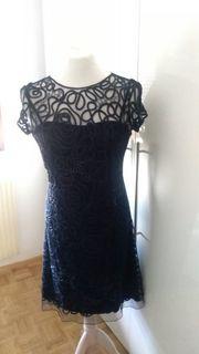 Festliches Sommer Kleid in Blau