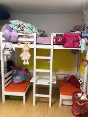 Hochbett Etagenbett Stockbett Bett Kinderbett