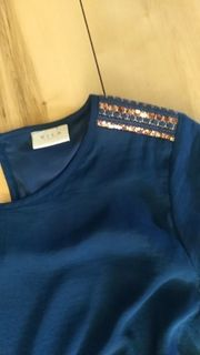 Sommerkleid Blau Gr 38
