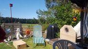 Campingplatz Wohnwagen mit Vorzelt zu