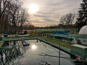 Forellenzucht Idyllisches Grundstück mit Betonfischbecken