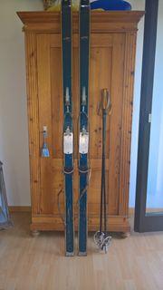 Sperber Ski und Stöcke - Vintage