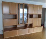 Wohnzimmerschrank 4 Elementen Glasvitrine mit
