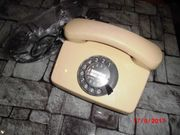 Telefon Wählscheibe Beige Nostalgie 1970