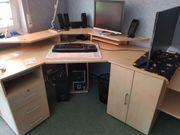 Schreibtisch Eckschreibtisch mit Regalen