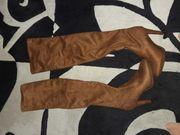 Braune Overknees Stiefel