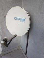 Satelliten Schüssel City Com 2000