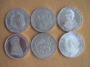 6 x Sammlermünzen 5 DM