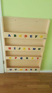 Kinder Bücherregale Alphabet mit Buchstaben