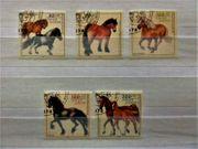 Briefmarken BRD Pferde