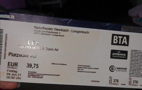 Lea Konzert 2 Karten