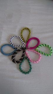 Armband Perlen Schmuck grün pink