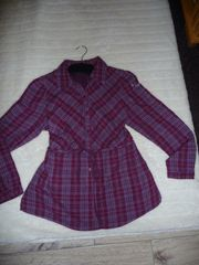 Bluse Flanell -kariert-