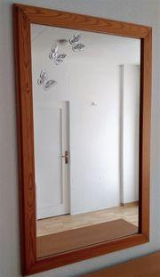 Spiegel mit Holzrahmen Höhe 118