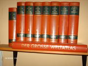 Bücherband mit Weltatlas zu verkaufen