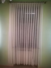 5 Stk lange Vorhänge Gardine