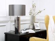 Tischlampe schwarz silber 52 cm
