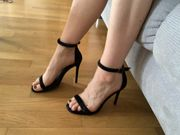 Verkaufe individuelle Fußbilder getragene Socke