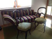 Biedermeier Sofa zwei Stühle