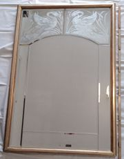 Alter Art Deco Spiegel geschliffenes