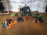 Playmobil Steinzeithöhle mit Mammut Säbelzahntiger