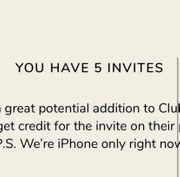 Clubhouse invites Einladungen günstig