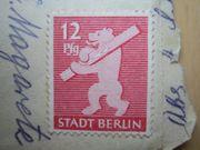 3 Briefmarken Deutsches Reich Alliierte