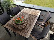 Gartentisch 6 Stühle Sitzkissen top