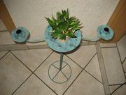 Kerzenständer Metallgestell für Blumentopf und