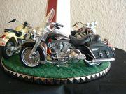 Karussell Motorrad BMW Harley Ölgemälde