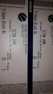 Elton John 2 Tickets Olympiahalle
