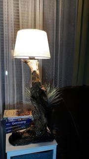 Tischlampe Lampe aus Naturholz