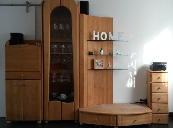 Moderne Wohnwand Erle Massiv Geölt In Karlsruhe Wohnzimmerschränke