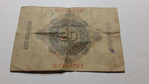 Reichsbanknote 20 Mark