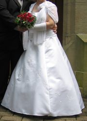 Brautkleid Neckholder bodenlang Gr 46