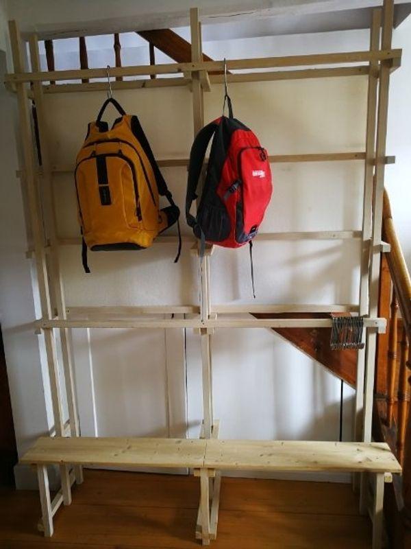 Garderobe Aus Holz In Sonntag Garderobe Flur Keller Kaufen Und