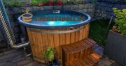 Badezuber Whirlpool mit GFK-Einsatz Holzofen