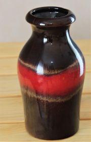 Keramikvase braun-rot Scheurich-Keramik ca 18