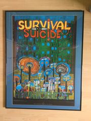 Hundertwasser Kunstdruck Survival or Suicide
