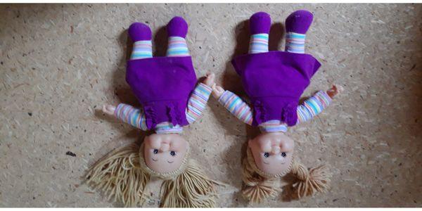 2 Puppe Schwestern