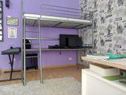 Jugendhochbett mit Schreibtisch und Matratze