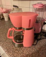 Kaffeemaschine in rosa