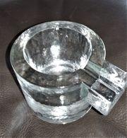 2er Set Aschenbecher Glas Konvolut