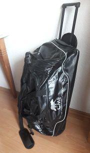 Reisetasche Rollkoffer Schwarz