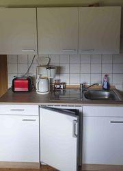 Küchenzeile 150cm mit Kühlschrank