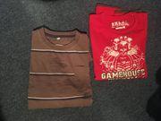 T-shirt 1x rot 1xbraun Marke