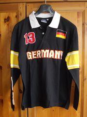 Jungen-Langarm-Shirt schwarz mit Druck Gr