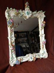 Meissen Barock Großer Spiegel mit
